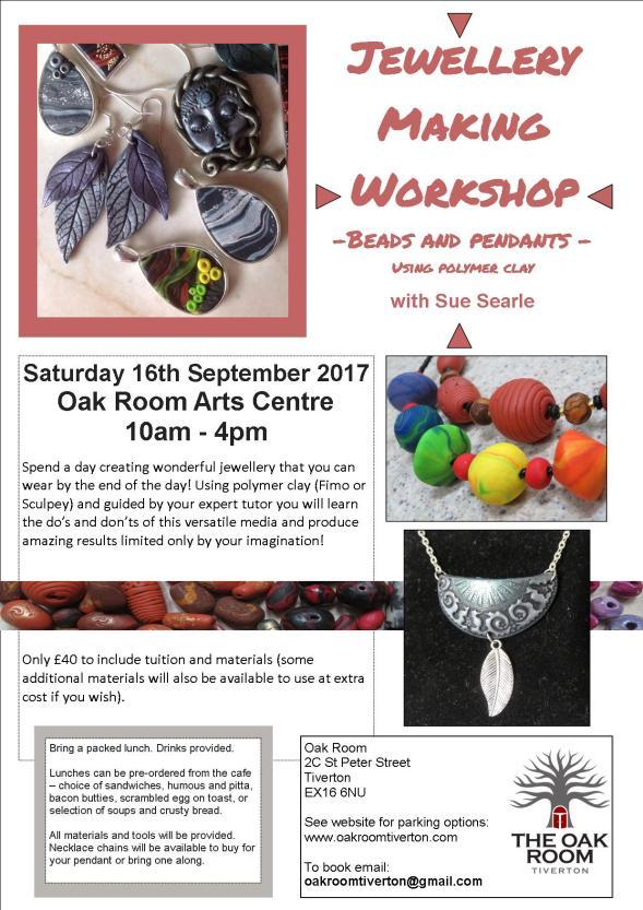 Jewellery making workshop POSTER September 2017