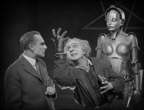 Silent movie at the Oak Room - scene from Metropolis
