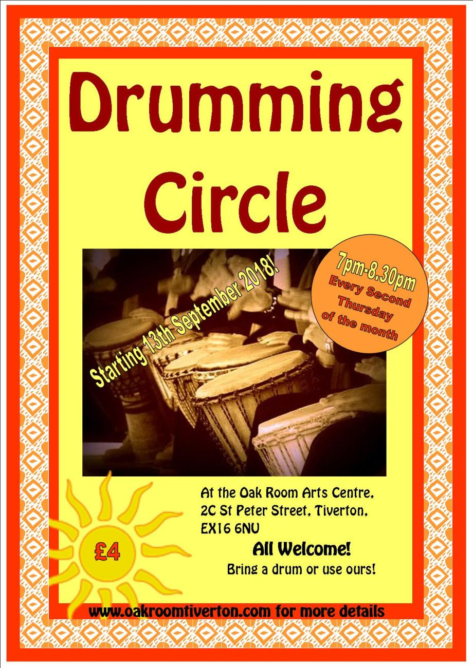 Drumming Circle Poster Sept 2018